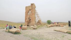 Pasargad Stone Tower stock footage