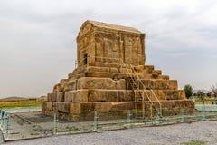 Pasargad stor Cyrus gravvalv Arkivbilder