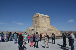Pasargadae. Tomb of Cyrus the great in Pasargadae, Fars province, Iran. Cyrus the great was the most powerful king of Achaemenid dynasty. The tomb is one of the Stock Photo