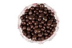 Pasas en chocolate Fotografía de archivo