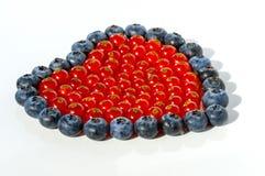 Pasas rojas con los blueberrys foto de archivo libre de regalías