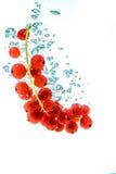 Pasas rojas en un agua Foto de archivo libre de regalías