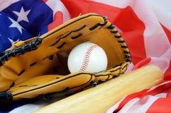 Pasatiempo americano del béisbol imagen de archivo