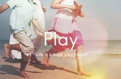 Pasatiempo juguetón de la diversión del juego Joy Recreational Pursuit Conce Foto de archivo libre de regalías