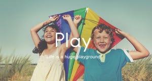 Pasatiempo juguetón de la diversión del juego Joy Recreational Pursuit Conce Imagen de archivo libre de regalías