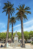 Pascal Paoli Monument in Ile-Rousse city Stock Images