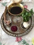 Pascha Seder Stock Foto's