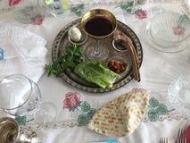 Pascha Seder Stock Afbeeldingen