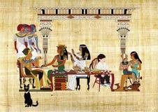 Pascha Seder met Farao Stock Fotografie