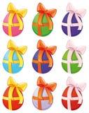 Paschal eieren in verschillende kleuren. Royalty-vrije Stock Afbeelding