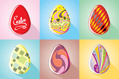 Paschal painted eggs Stock Photography