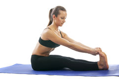Paschimottanasana Stock Images