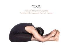 paschimottanasanaen poserar yoga Royaltyfria Foton