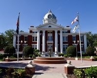Pasco County Courthouse. This is a Summer picture of the Pasco County, Courthouse located in Dade City, Florida in Pasco County. This Courthouse was designed by royalty free stock photos