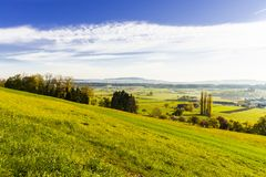 Pascoli e prati in Svizzera Fotografia Stock Libera da Diritti