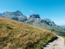 Pascolo alpino nelle alpi francesi, Francia Fotografie Stock Libere da Diritti