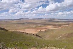 Pascolo della regione montana Immagini Stock