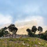 Pascolo della regione montana in montagne di Nebrodi in Sicilia Fotografia Stock Libera da Diritti