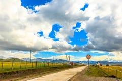 Pascolo di Ruoergai, area di cultura del Tibet, Gansu, Cina fotografia stock libera da diritti
