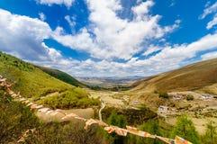 Pascolo di Tagong in provincia del Sichuan fotografia stock libera da diritti