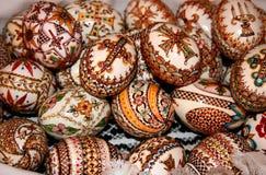 Pascua adornó los huevos Fotografía de archivo libre de regalías
