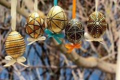 Pascua adornó los huevos Imagenes de archivo