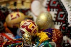 Pascua adornó los huevos Imagen de archivo libre de regalías
