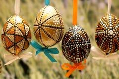 Pascua adornó los huevos Fotos de archivo libres de regalías