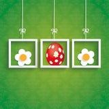 Pascua adorna marcos de las flores del huevo Imagen de archivo libre de regalías