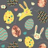 Pascua Bunny Egg Repeat Pattern Imagenes de archivo