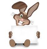 Pascua Bunny Happy Easter Board Foto de archivo