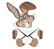 Pascua Bunny With Letter Fotografía de archivo libre de regalías