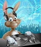 Pascua Bunny Party DJ ilustración del vector