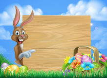 Pascua Bunny Sign Fotos de archivo