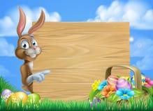 Pascua Bunny Sign Background Fotografía de archivo