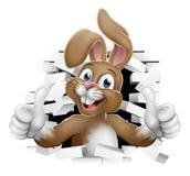 Pascua Bunny Thumbs Up Coming Out del fondo stock de ilustración