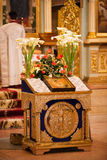 Pascua, ceremonia del rezo de la iglesia ortodoxa. Imágenes de archivo libres de regalías