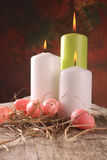 Pascua coloreó los huevos Imágenes de archivo libres de regalías