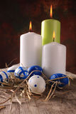 Pascua coloreó los huevos Imagen de archivo libre de regalías