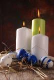 Pascua coloreó los huevos Fotografía de archivo libre de regalías