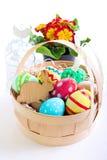 Pascua coloreó los huevos Fotos de archivo libres de regalías