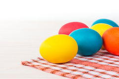 Pascua coloreó los huevos Fotografía de archivo