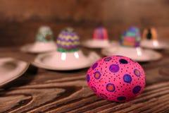 Pascua colorida Paschal Eggs Celebration foto de archivo libre de regalías