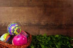 Pascua colorida Paschal Eggs Celebration Fotos de archivo