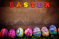 Pascua colorida Paschal Eggs Celebration Foto de archivo
