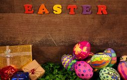 Pascua colorida Paschal Eggs Celebration Fotografía de archivo libre de regalías