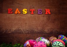 Pascua colorida Paschal Eggs Celebration Fotos de archivo libres de regalías