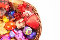 Pascua colorida Paschal Eggs Celebration Imágenes de archivo libres de regalías
