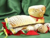 Pascua con el cordero Fotos de archivo libres de regalías