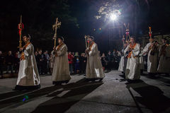 Pascua 2014 en catedral del St Volodymyr de Ucrania 22.04.2014 //es Foto de archivo libre de regalías